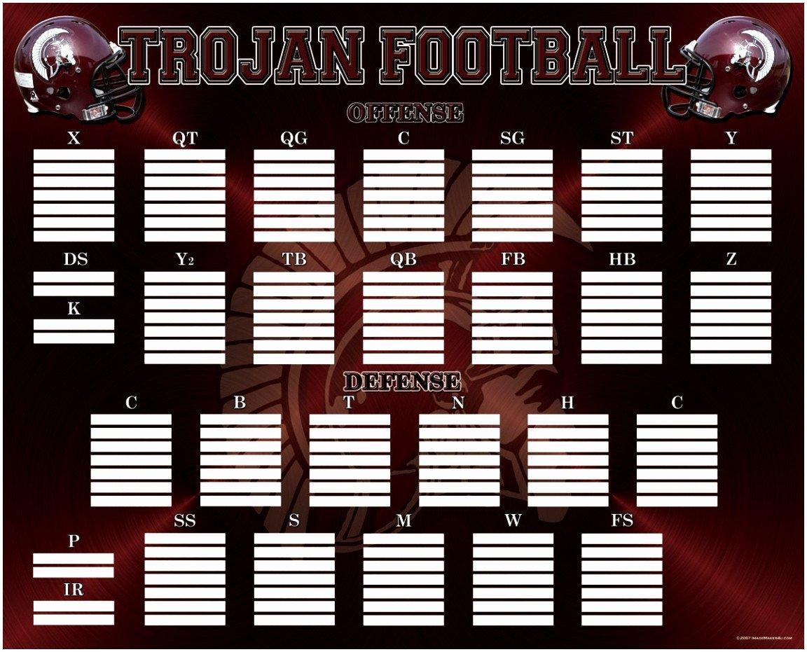 Football Depth Chart Template 5 Printable Football Depth Chart Template Yaouu