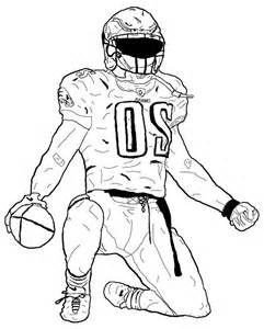 Football Player Template Printable American Football Player Coloring Pages Sketch Template