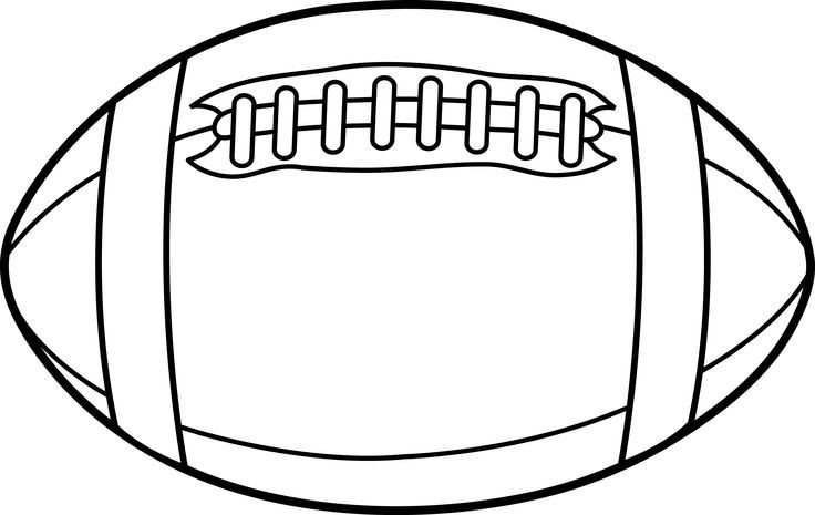 Football Player Template Printable Football Outline – Gclipart