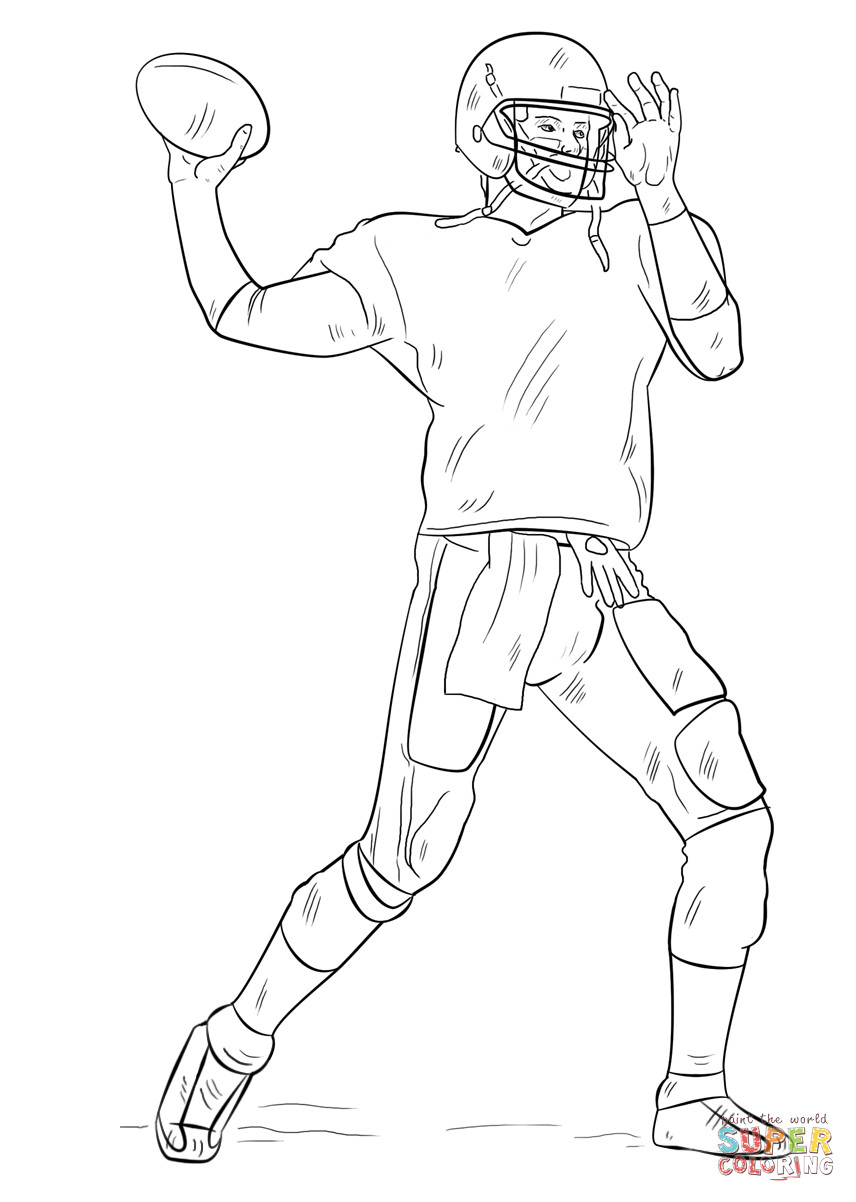 Football Player Template Printable Football Player Coloring Page