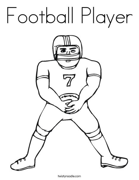 Football Player Template Printable Football Player Coloring Page Twisty Noodle