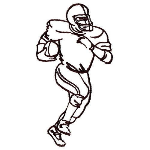 Football Player Template Printable Football Player Outline Embroidery Designs Machine