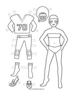 Football Player Template Printable Football Player Template Printable Google Search