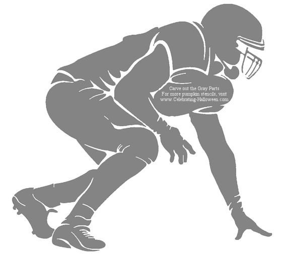 Football Player Template Printable Nfl Football Stencils