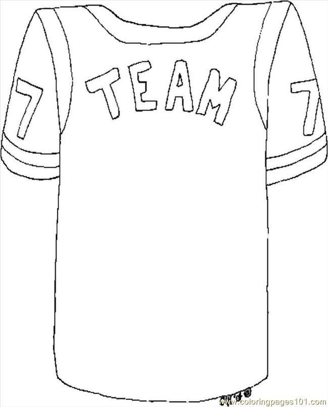Football Player Template Printable Nfl Jersey Shirt Clipart