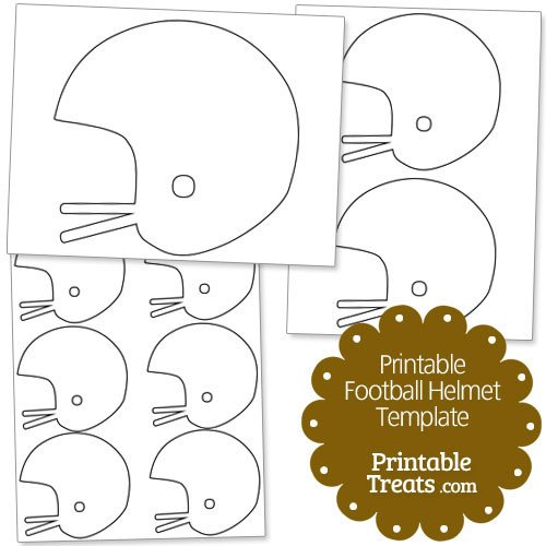Football Player Template Printable Printable Football Helmet Template — Printable Treats