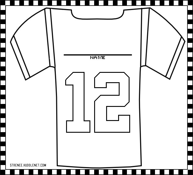 Football Player Template Printable Seattle Seahawks Free Coloring Pages