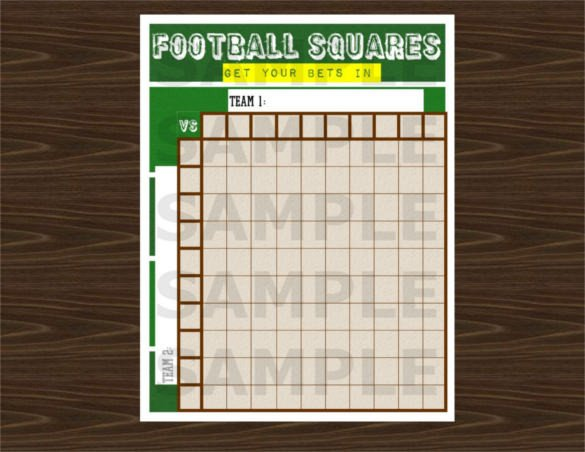 Football Pool Grid Template 19 Football Pool Templates Word Excel Pdf