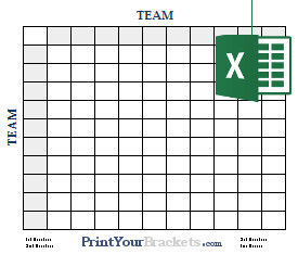 Football Pool Grid Template Excel Spreadsheet Football Square Grids