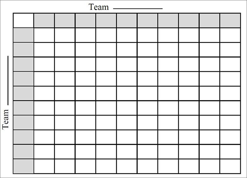 Football Pool Grid Template Football Square Template