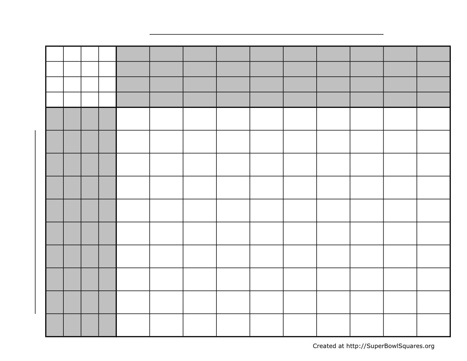 Football Pool Grid Template How to Play Football Squares