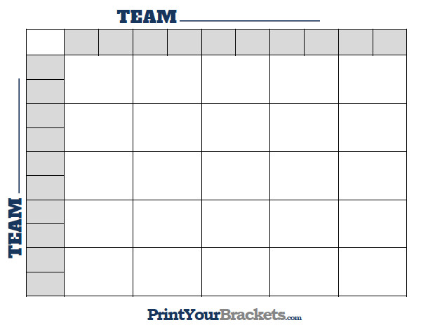 Football Pool Grid Template Printable 25 Square Football Grid Template
