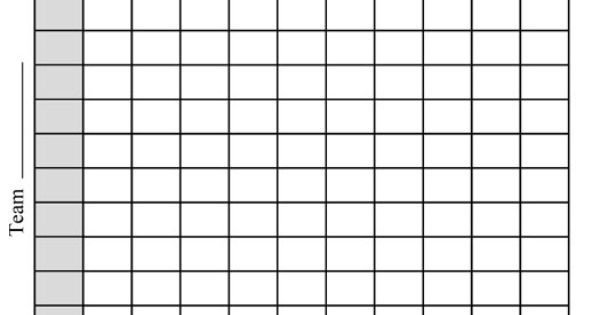 Football Pool Grid Template Printable Football Pool Chart