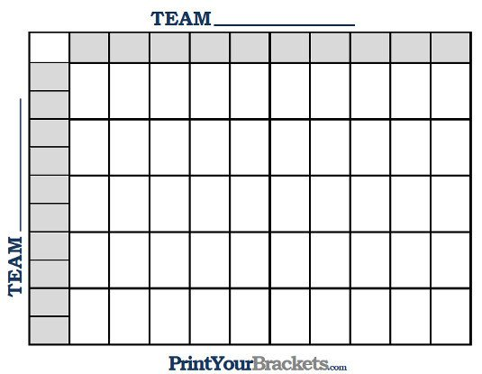 Football Pool Grid Template Printable Ncaa Football Bcs Squares 50 Grid Fice Pool Nfl