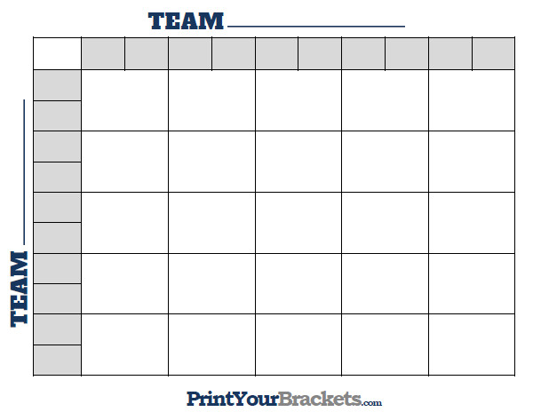 Football Pool Grid Template Printable Nfl Football 25 Square Grid Fice Pool