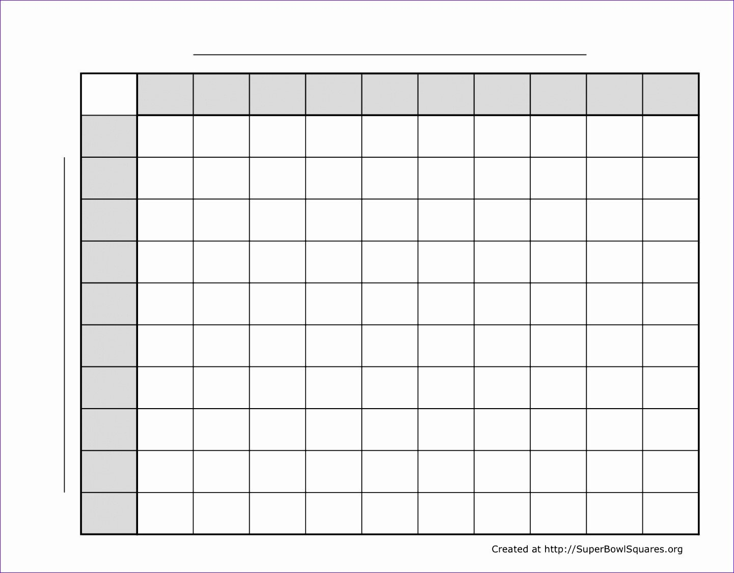 Football Squares Template Excel 12 Excel Super Bowl Squares Template Exceltemplates