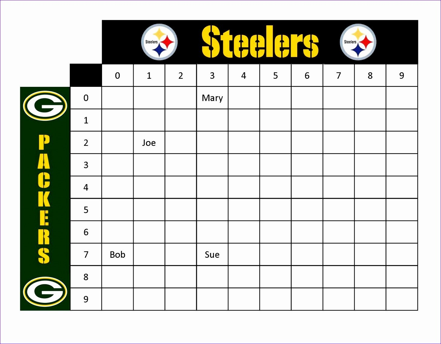 Football Squares Template Excel 12 Football Squares Template Excel Exceltemplates