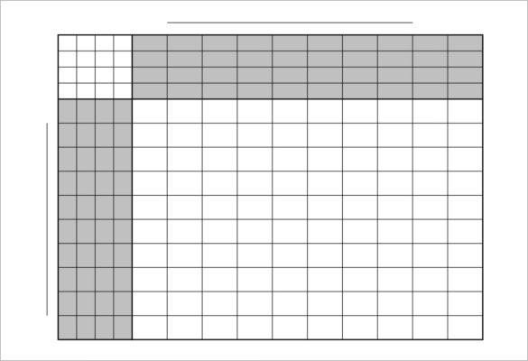 Football Squares Template Excel 21 Football Pool Template Free Download