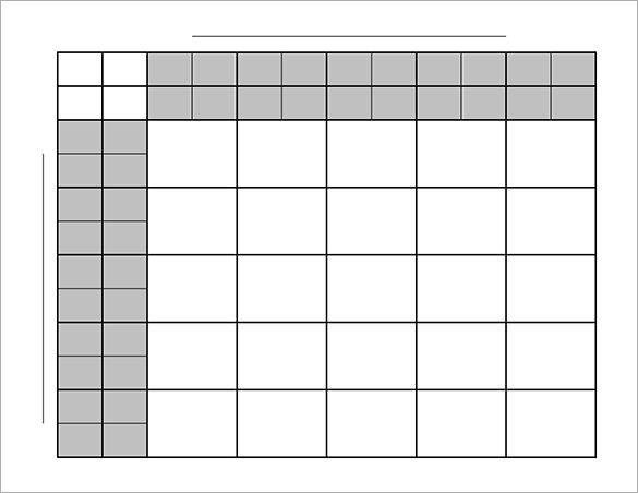 Football Squares Template Excel Football Pool Template 17 Free Word Excel Pdf