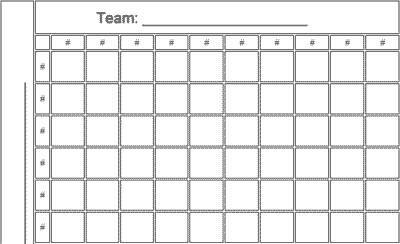 Football Squares Template Excel Football Pool Template