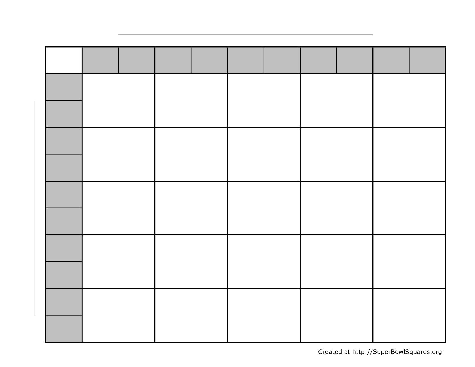 Football Squares Template Excel Football Square Template