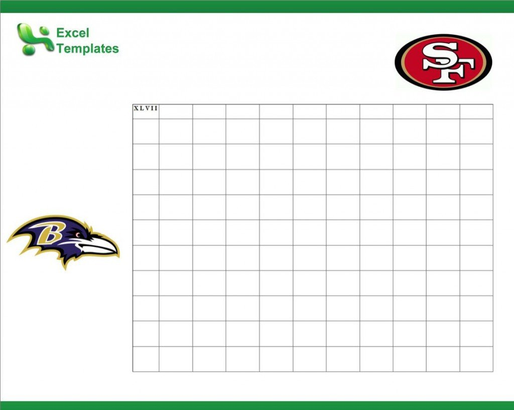 Football Squares Template Excel Football Squares