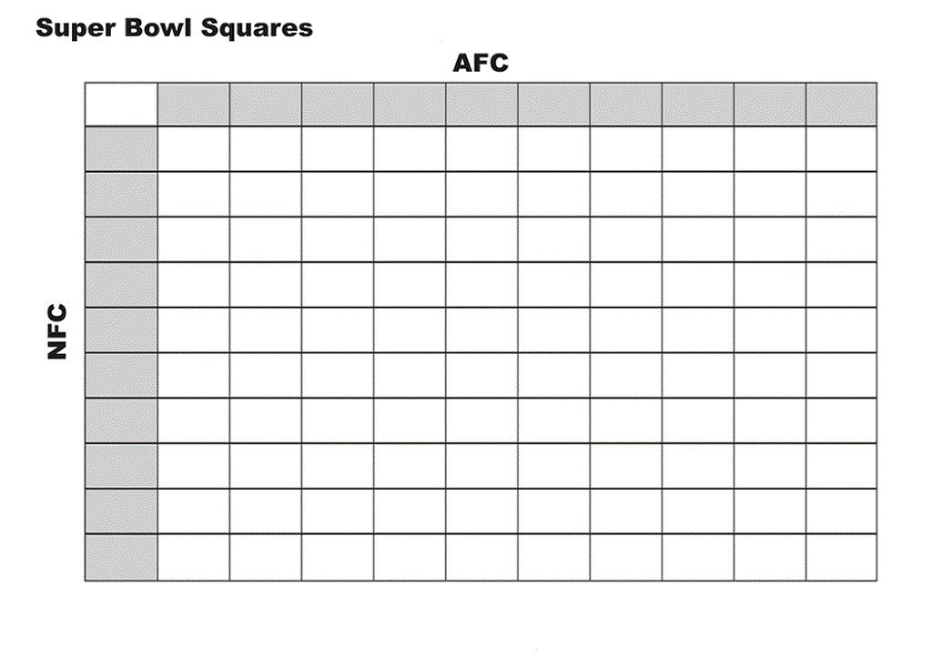 Football Squares Template Excel Football Squares Template