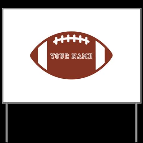 Football Yard Sign Template Custom Name Football Yard Sign by Familyemporium