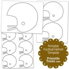 Football Yard Sign Template Football Helmet Pattern Use the Printable Outline for