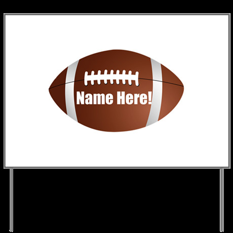 Football Yard Sign Template Personalized Football Yard Sign by Cutetshirts T