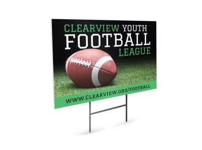 Football Yard Sign Template Sports & Wellness Yard Sign Templates
