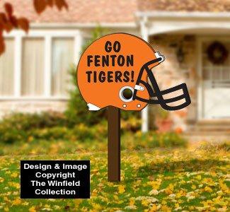Football Yard Sign Template Yard Art Woodcraft Plans Football Helmet Sign Pattern