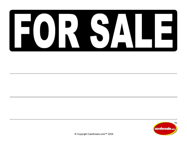 For Sale Sign Template Carsforsale Buyer and Seller Resources Clip Art Library