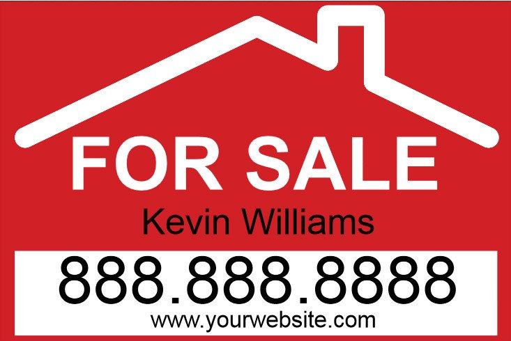For Sale Sign Template for Sale Yard Sign