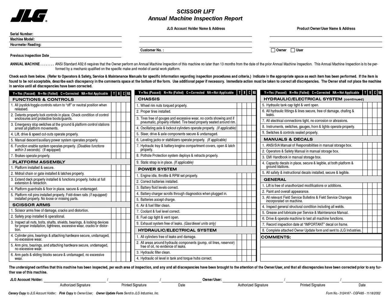 Forklift Inspection form Excel forklift Inspection form Excel forms 5752