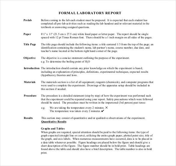 Formal Lab Report Template 16 Laboratory Report Templates Free Pdf Ms Word Apple