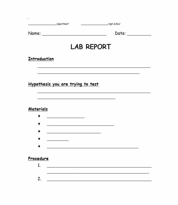 Formal Lab Report Template 40 Lab Report Templates & format Examples Template Lab