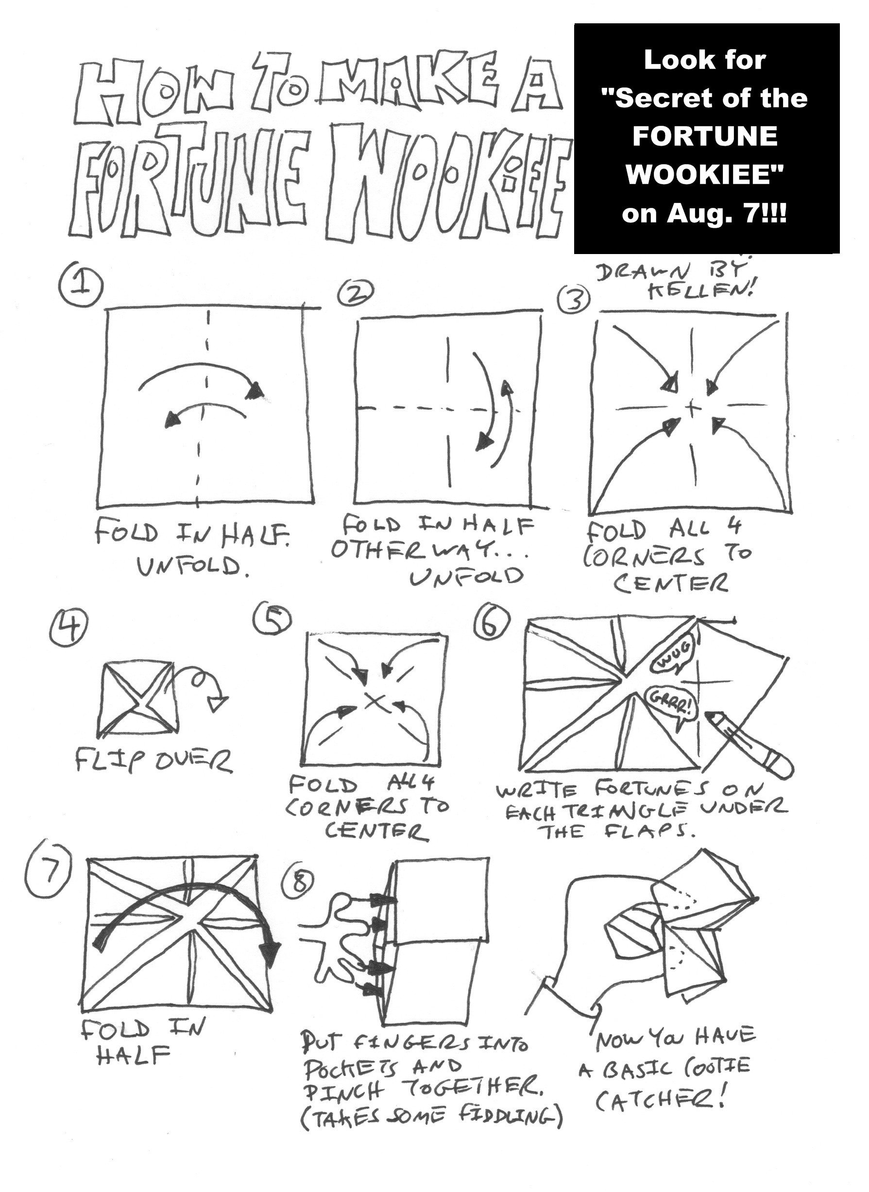 Fortune Wookiee Paper Print Out Make Your Own fortune Wookiee