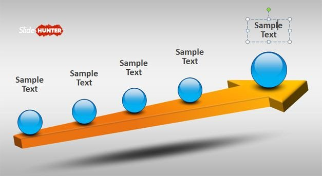Free 3d Animated Powerpoint Templates 3d Timeline Design for Powerpoint with Spheres and Arrow