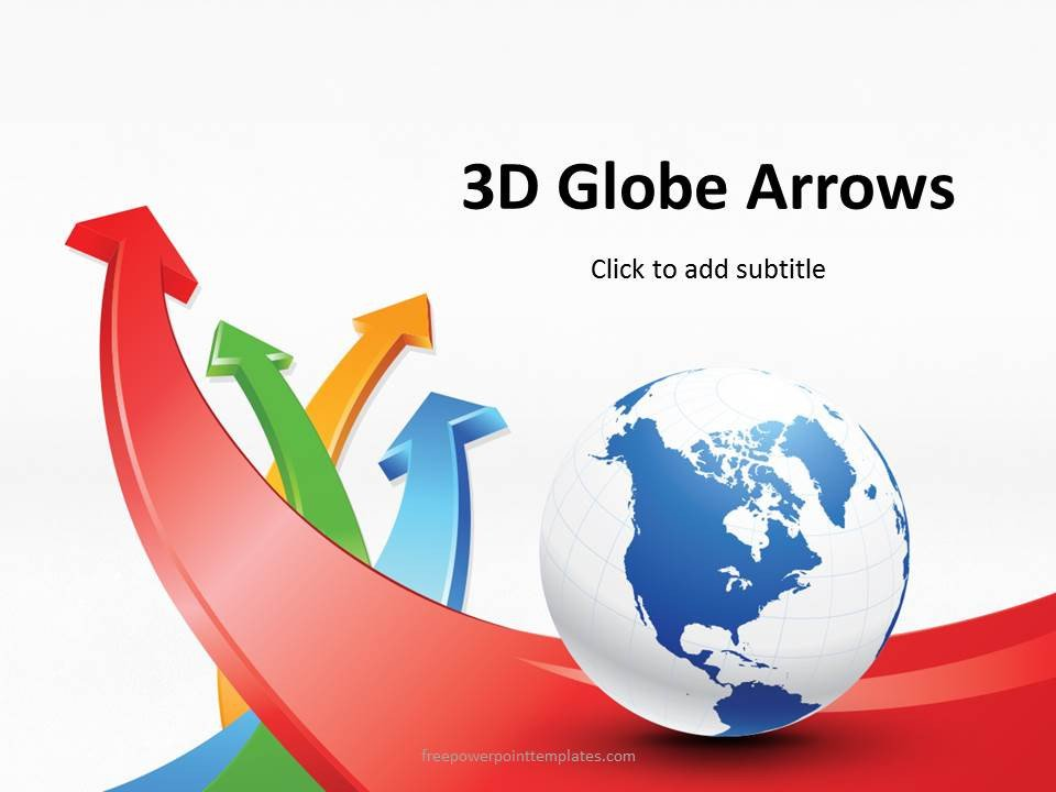 Free 3d Animated Powerpoint Templates Free 3d Globe Arrows Powerpoint Template