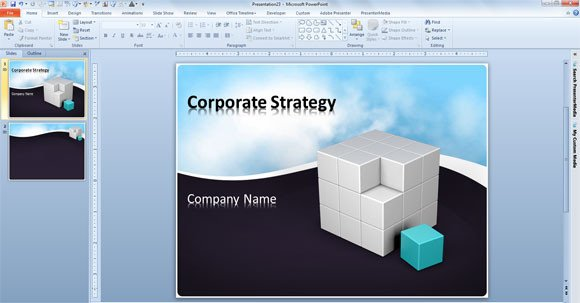 Free 3d Animated Powerpoint Templates Free Business Powerpoint Template with Animated Clouds