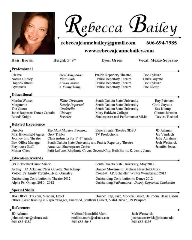 Free Acting Resume Template 25 Unique Acting Resume Template Ideas On Pinterest
