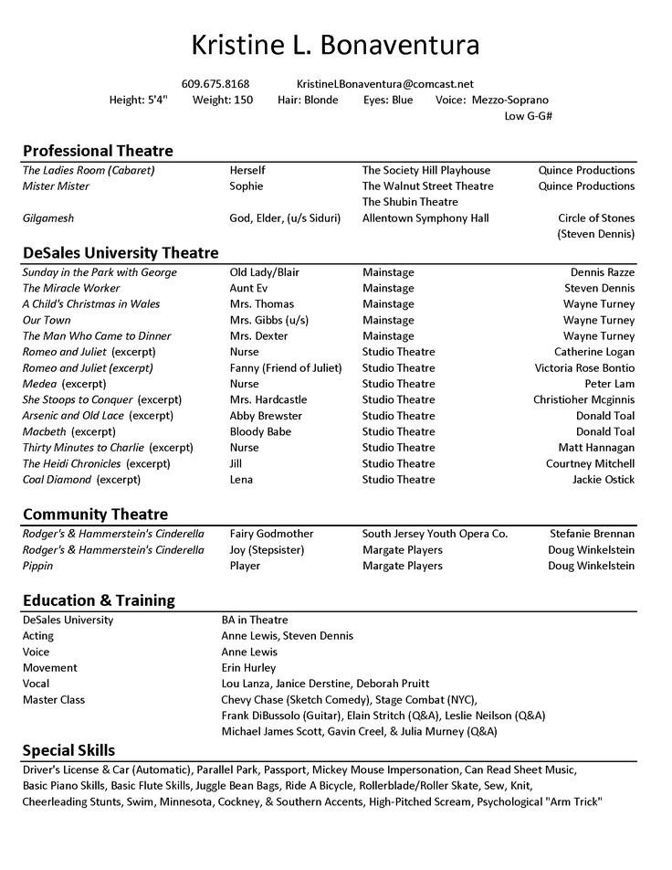 Free Acting Resume Template Best 25 Acting Resume Template Ideas On Pinterest