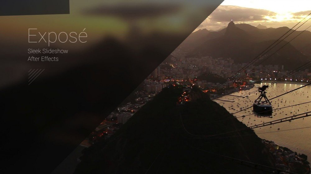 Free after Effects Slideshow Template Exposé Modern Slideshow after Effects Template