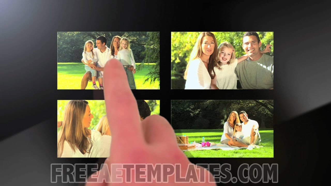 """Free after Effects Slideshow Template Free after Effects Template """"touchscreen Slideshow"""""""