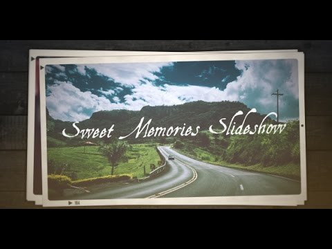 Free after Effects Slideshow Template Free after Effects Template Sweet Memories Slideshow