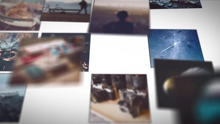 Free after Effects Slideshow Template Mosaic Picture Slideshow after Effects Templates
