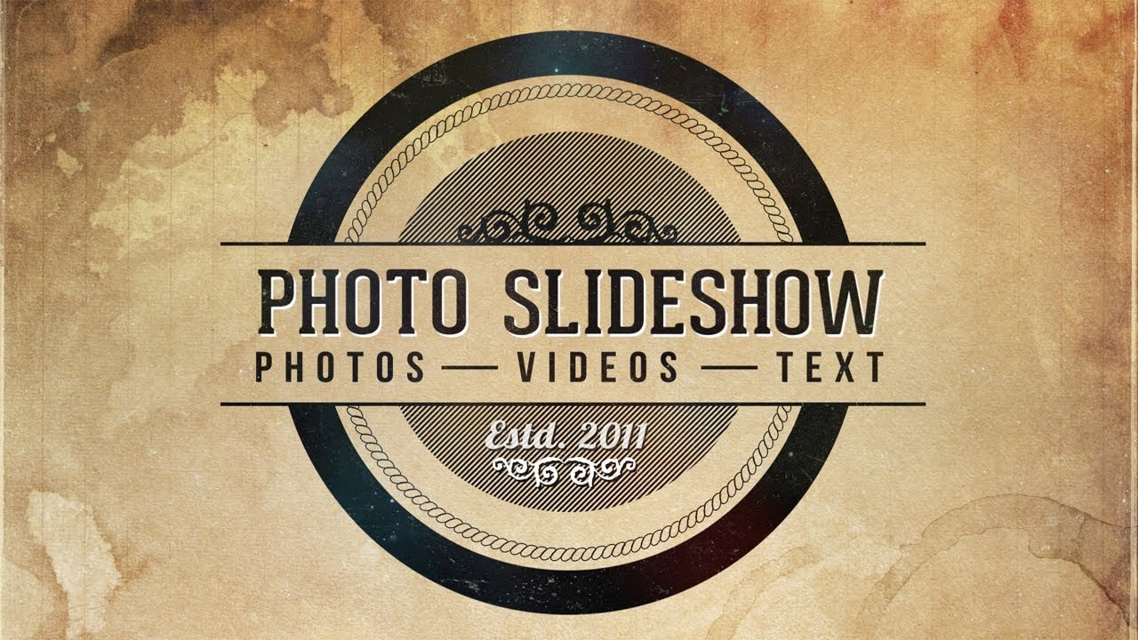 Free after Effects Slideshow Template Photo Slideshow after Effects Template