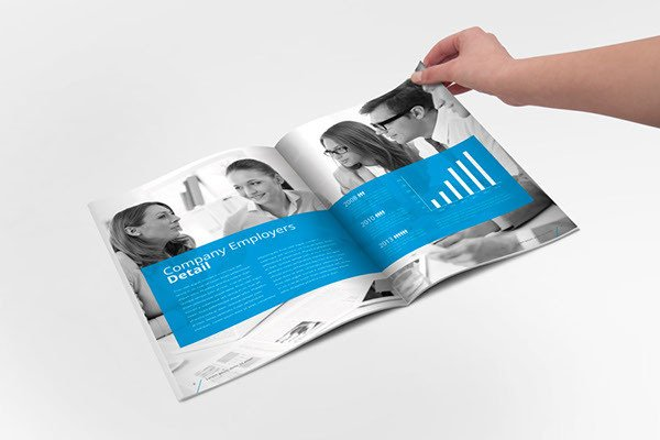 Free Annual Report Template Indesign Annual Report Brochure Indesign Template On Behance