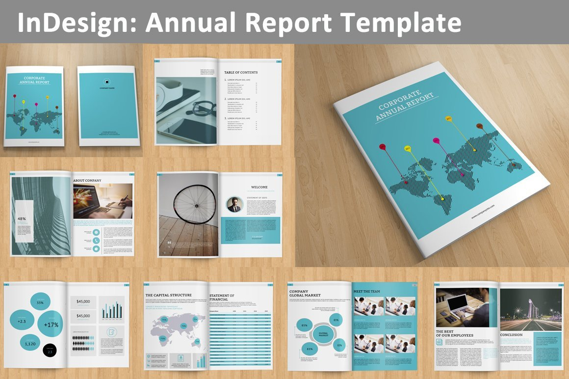 Free Annual Report Template Indesign Annual Report V129 Brochure Templates Creative Market